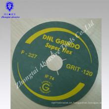 """disco flexible de fibra abrasiva de óxido de aluminio con agujero redondo de 5 """"india"""
