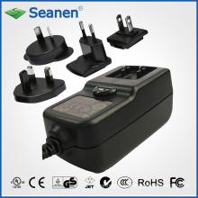 36-Watt-Netzteil mit austauschbaren AC-Steckern für Mobilgerät, Set-Top-Box, Drucker, ADSL, Audio & Video oder Haushaltsgerät