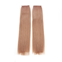 100% Human Hair Virgin Hair Ash Pink Color Straight Style 20inch 100g Weight Knot Thread Hair Extension Remy Quality Hair
