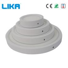 Painel de luz LED redondo 7 W montado na superfície