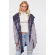 Cozy and Oversized Hooded Sweatshirt Cardi