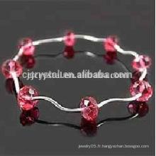 Bracelet en cristal shambala, bracelet en perles de mode