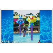 Customized Colorful Carp Spray Park Equipment For Children / Kids Water Playground