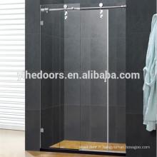 Porte de douche coulissante en acier inoxydable