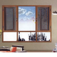 Fenêtre en aluminium / aluminium à coupure thermique avec grille en diamant (FT-W108)