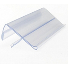 Soporte de etiquetas de coextrusión / tira de precios / producto de exhibición promocional con material de PVC 100%