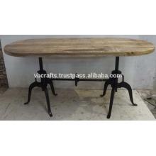 Industrial Doubal Base de cigüeñal Tapa de madera ovalada de mango