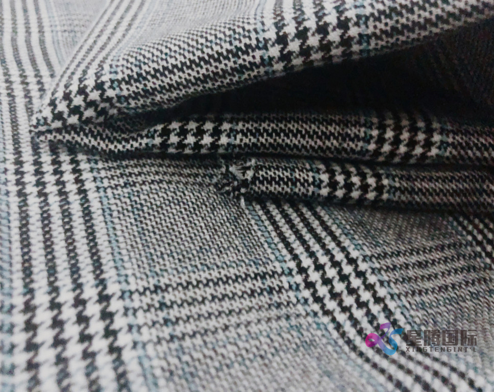Glen Plaid Tr Stretch Fabric 1