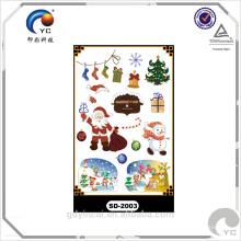 """""""Artículo de Navidad"""" diseños encantadores y lindos, etiqueta engomada del tatuaje del regalo del hombre y de la Navidad"""