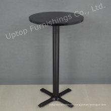 Negro estilo moderno ronda pequeña mesa de bar (SP-BT676)