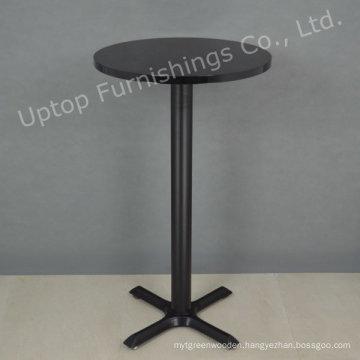 Black Modern Style Round Small High Bar Table (SP-BT676)