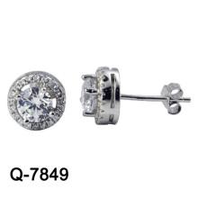 Jóias de prata dos brincos da forma do projeto 925 novos (Q-7849. JPG)