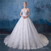 Высокая шея свадебные платья платья 2017 HA570 для новобрачных