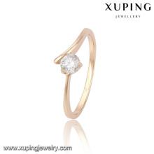 13809 Xuping nuevo diseño de anillos chapados en oro para mujer