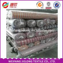 Tissu teint en fil de coton pour la fabrication de chemises en coton à carreaux fabriqués en Chine