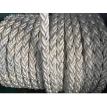 Corde chimique de corde d'amarrage de cordes de fibre de 8-Strand, polyester mélangé, corde en nylon