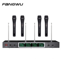 Chinese Good Quality 4 Channels Handheld Mic Wireless Microphones