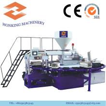 Máquina rotativa de PVC para hacer zapatillas de plástico