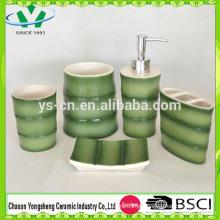 New Design China Bambu Forma Banheiro Set