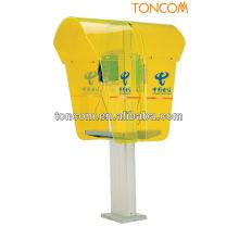 Cabine telefônica de plástico