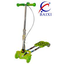 Faltbare und blinkende Räder Kinderschaukel Frosch Scooter (BX-WS003)