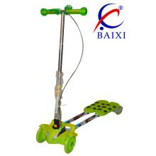 Складной и мигающие колеса дети качели Скутер Лягушка (ВХ-WS003)