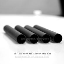 Booms droits de fibre de carbone 3KTwIll, tubes de carbone coudés de 25 millimètres de hobbycarbon