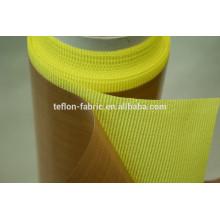 Tissu en fibre de verre revêtu de teflon avec adhésif avec feuille de détachement