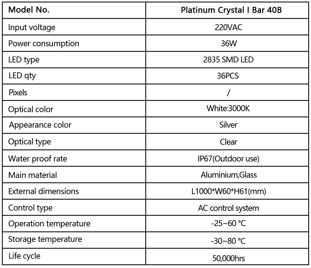Platinum Crystal I Bar 40B