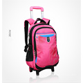 Popular Simple Design Wheeled Trolley Backpack School Trolley Bag