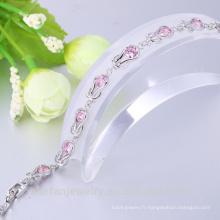 bijoux en argent saudi rose CZ bracelet costume design