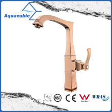 Modern Polished Rose Gold Kitchen Single Handle Faucet
