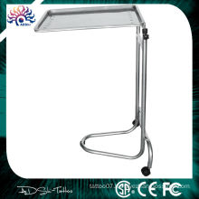 Hospital Stainless Steel Moving Mayo Stand, Tattoo Stainless Steel Mayo Tray/Tattoo Furniture