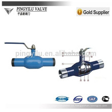 Válvula de bola de acero fundido cf8m para suministro de agua
