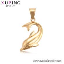 34208 xuping moda pingentes de cor do ouro 18k animais encantos de golfinhos