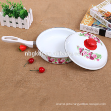 enamel egg fry pan & cooking pot & carbon steel with enamel coating