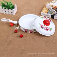 эмали яйцо сковорода и приготовления пищи горшок и углеродистой стали с эмалевым покрытием