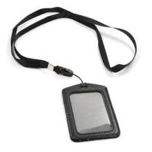 Printed Work ID Card Holder Neck Lanyard
