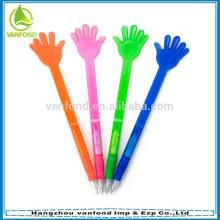 Pena de esfera colorida dedo de plástico promocionais