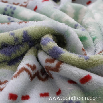 Coral Fleece Printed Blanket Throws For Bedding Sofa