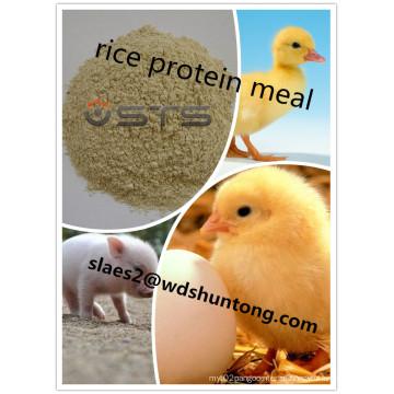 Refeição de alta qualidade da proteína do arroz do aditivo da alimentação para a alimentação animal