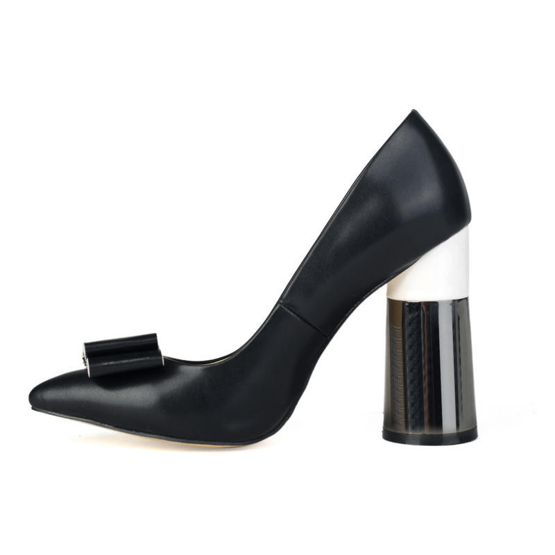 high black chunky heel comfortable elegant shoes