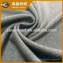 tissu polyester interlock tricoté cationique polyester fournisseur pour sous-vêtements