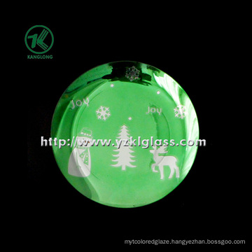 Single Wall Color Glass Plate by SGS (KLP110824-56)