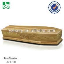 Estilo europeu barato clássico esculpida caixão de papelão
