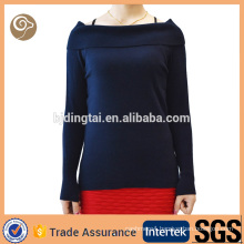 Women boat neck 100 cashmere sweater