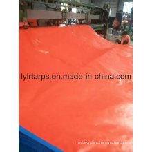 Durable Heavy-Duty PE Tarpaulin Cover, Blue/Orange Tarpaulin Sheet