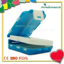 Caixa de comprimidos de armazenamento de plástico plástica