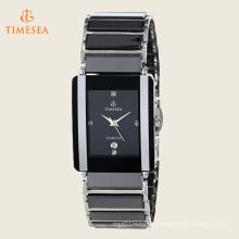 Men′s Ceramic Rectangular Quartz Bracelet Watch 72512