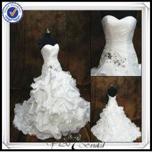JJ0064 Real Sample Organza Mermaid Backless Wedding Dress 2014